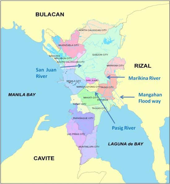 The Hydrological And Geophysical Environment Of The Metro Manila - Where is manila